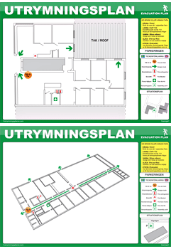 utrymningsplan exempel 2D-3D pdf